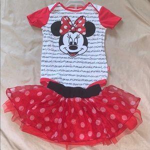 Girls Minnie Mouse Onesie & Tu-Tu...